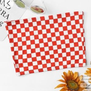 Tops - Red checker tube top